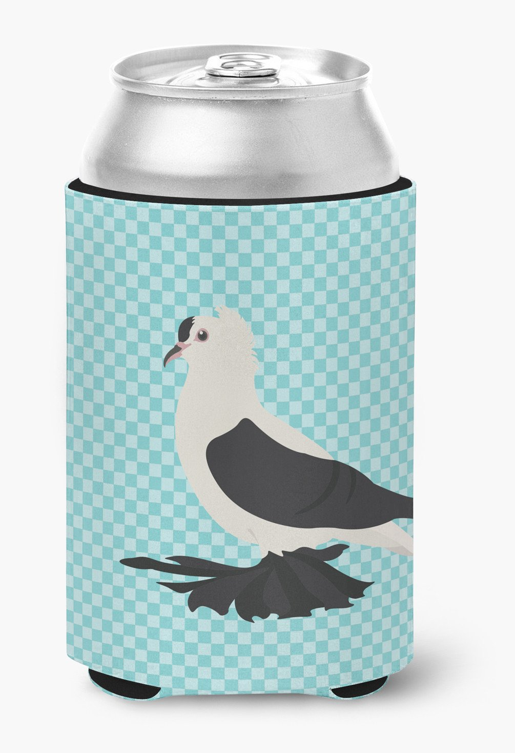 Buy this Saxon Fairy Swallow Pigeon Blue Check Can or Bottle Hugger BB8120CC
