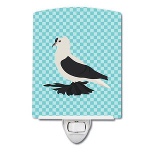 Buy this Saxon Fairy Swallow Pigeon Blue Check Ceramic Night Light BB8120CNL