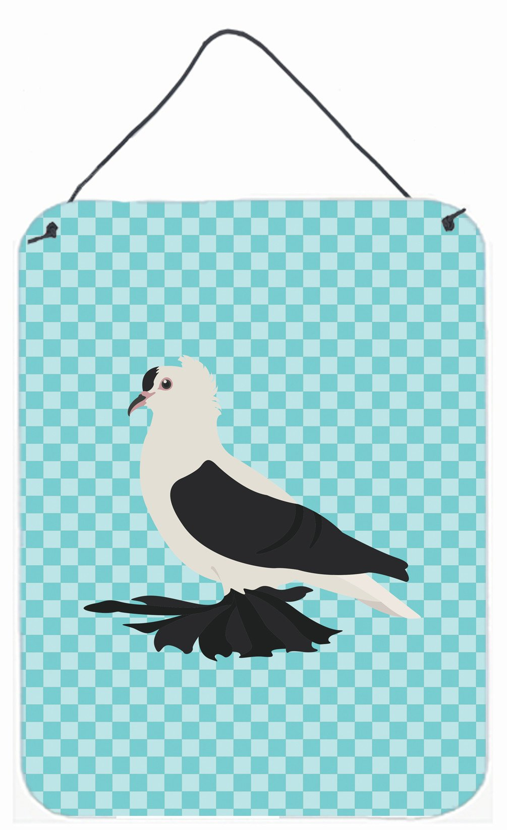 Buy this Saxon Fairy Swallow Pigeon Blue Check Wall or Door Hanging Prints BB8120DS1216