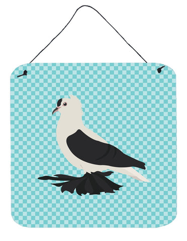 Buy this Saxon Fairy Swallow Pigeon Blue Check Wall or Door Hanging Prints BB8120DS66