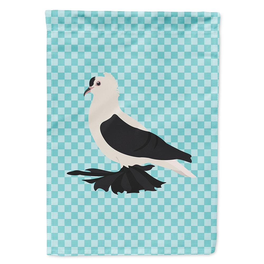 Buy this Saxon Fairy Swallow Pigeon Blue Check Flag Garden Size