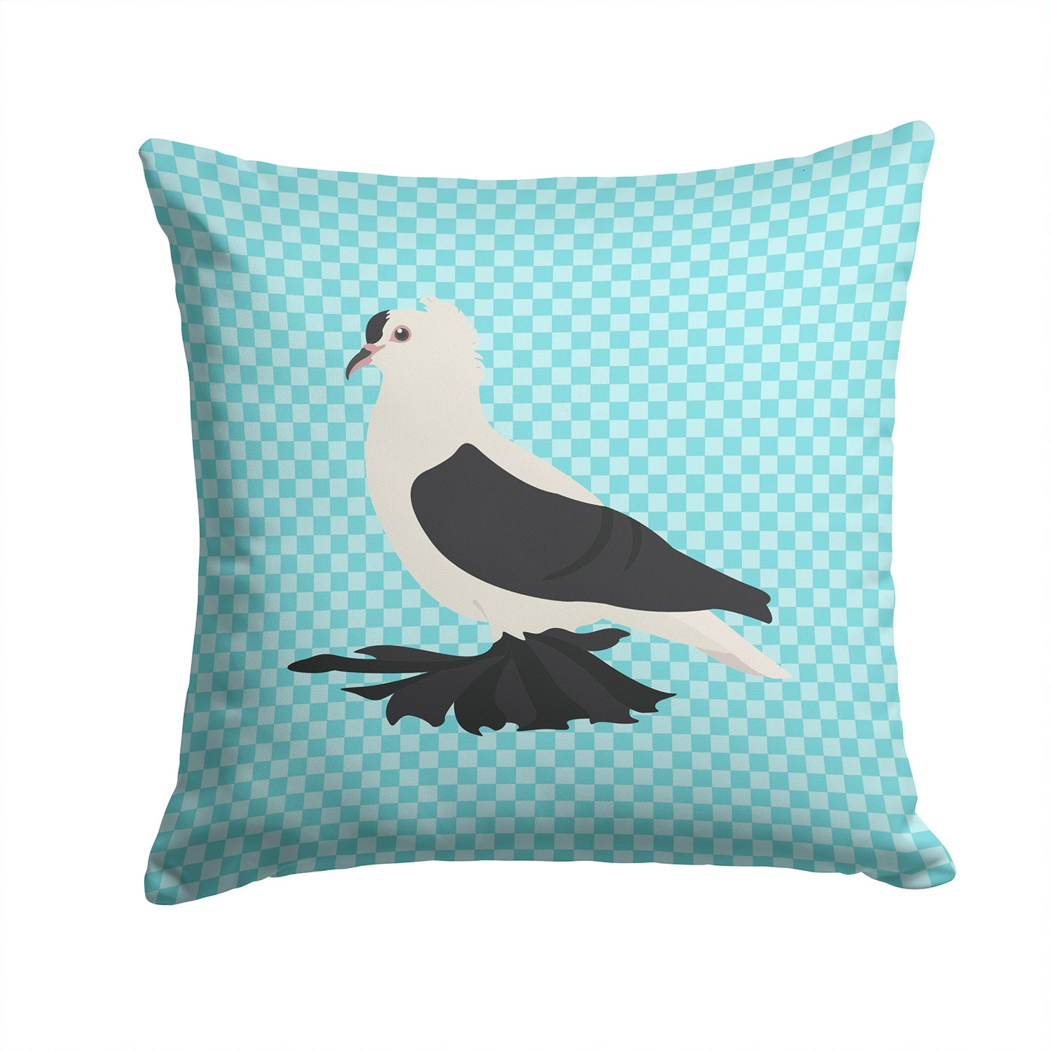 Buy this Saxon Fairy Swallow Pigeon Blue Check Fabric Decorative Pillow BB8120PW1414