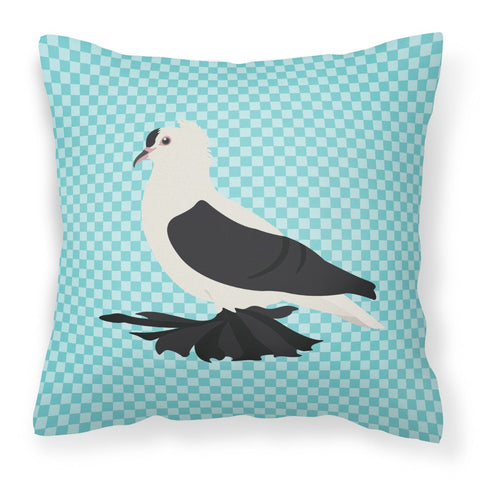 Buy this Saxon Fairy Swallow Pigeon Blue Check Fabric Decorative Pillow BB8120PW1818
