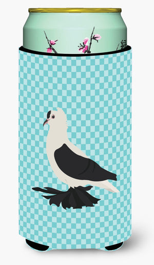Buy this Saxon Fairy Swallow Pigeon Blue Check Tall Boy Beverage Insulator Hugger BB8120TBC