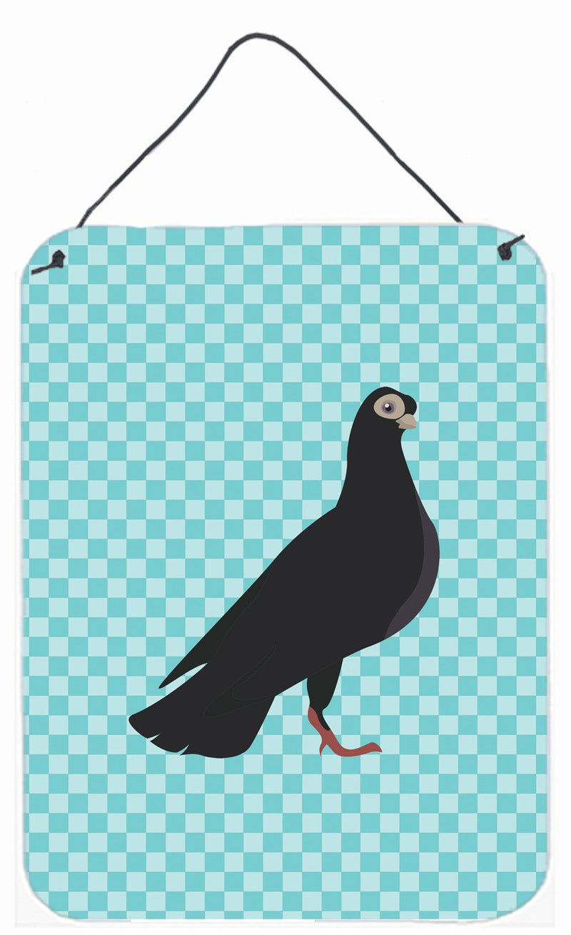 Buy this Budapest Highflyer Pigeon Blue Check Wall or Door Hanging Prints BB8121DS1216