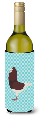 Buy this Capuchin Red Pigeon Blue Check Wine Bottle Beverge Insulator Hugger BB8122LITERK