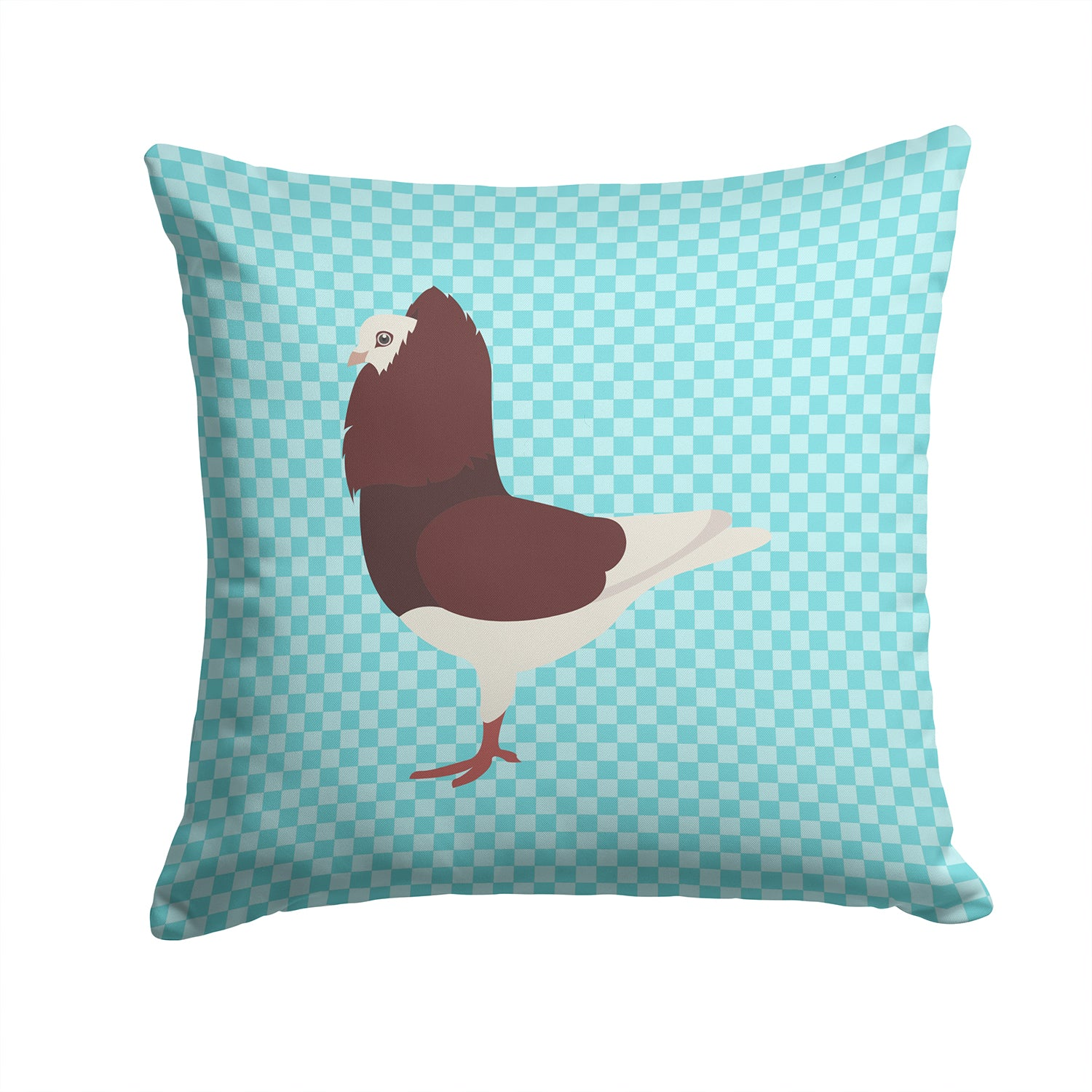 Buy this Capuchin Red Pigeon Blue Check Fabric Decorative Pillow BB8122PW1414