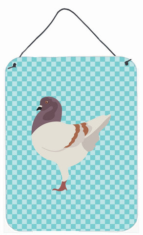 Buy this German Modena Pigeon Blue Check Wall or Door Hanging Prints BB8123DS1216