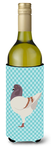 Buy this German Modena Pigeon Blue Check Wine Bottle Beverge Insulator Hugger BB8123LITERK