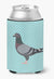 Racing Pigeon Blue Check Can or Bottle Hugger BB8125CC by Caroline's Treasures