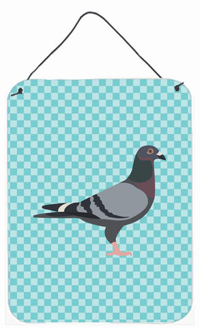 Buy this Racing Pigeon Blue Check Wall or Door Hanging Prints BB8125DS1216
