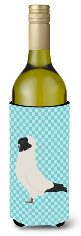 Buy this Nun Pigeon Blue Check Wine Bottle Beverge Insulator Hugger BB8126LITERK