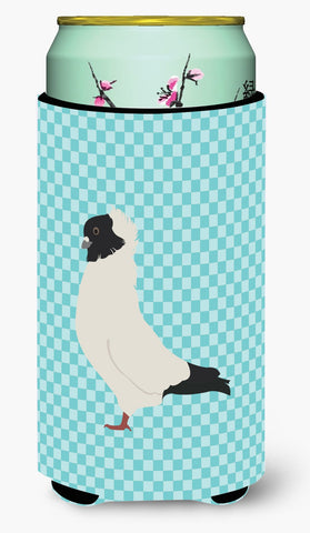 Buy this Nun Pigeon Blue Check Tall Boy Beverage Insulator Hugger BB8126TBC