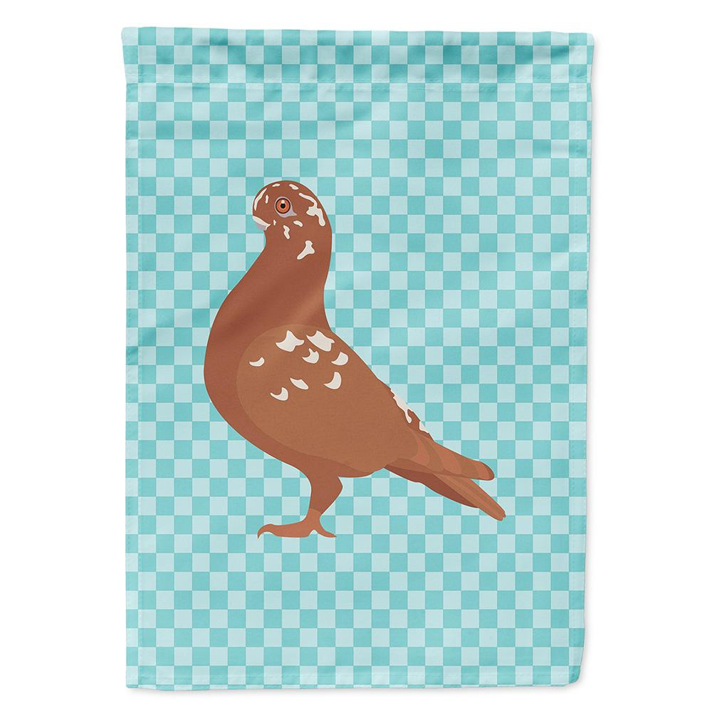 Buy this African Owl Pigeon Blue Check Flag Garden Size