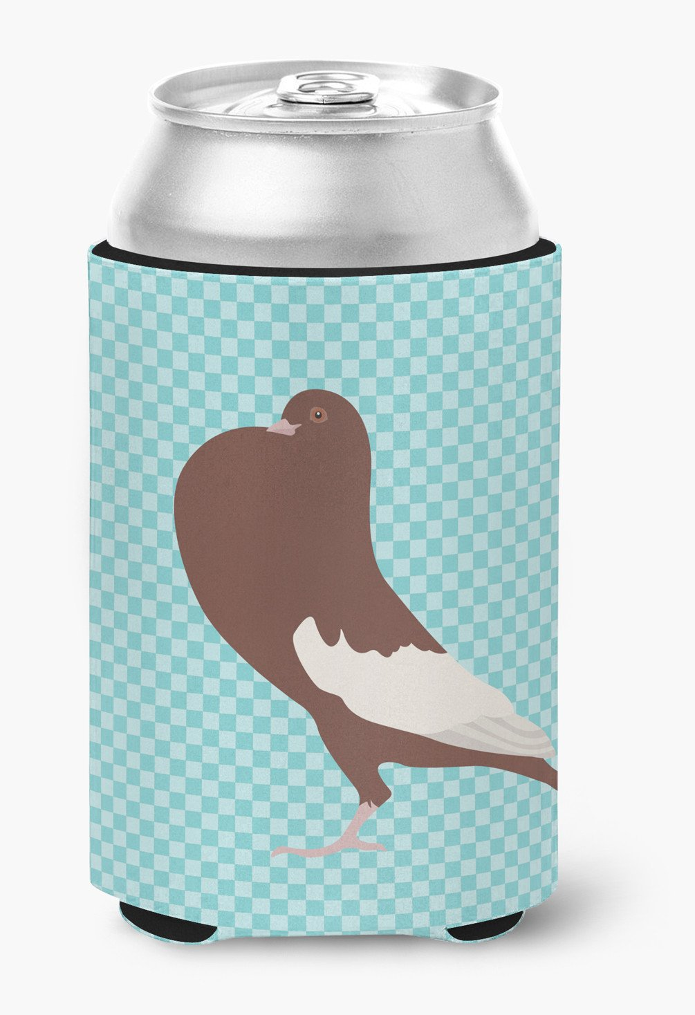 English Pouter Pigeon Blue Check Can or Bottle Hugger BB8128CC by Caroline's Treasures