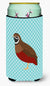 Chinese Painted or King Quail Blue Check Tall Boy Beverage Insulator Hugger BB8130TBC by Caroline's Treasures
