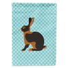 Buy this Tan Rabbit Blue Check Flag Garden Size