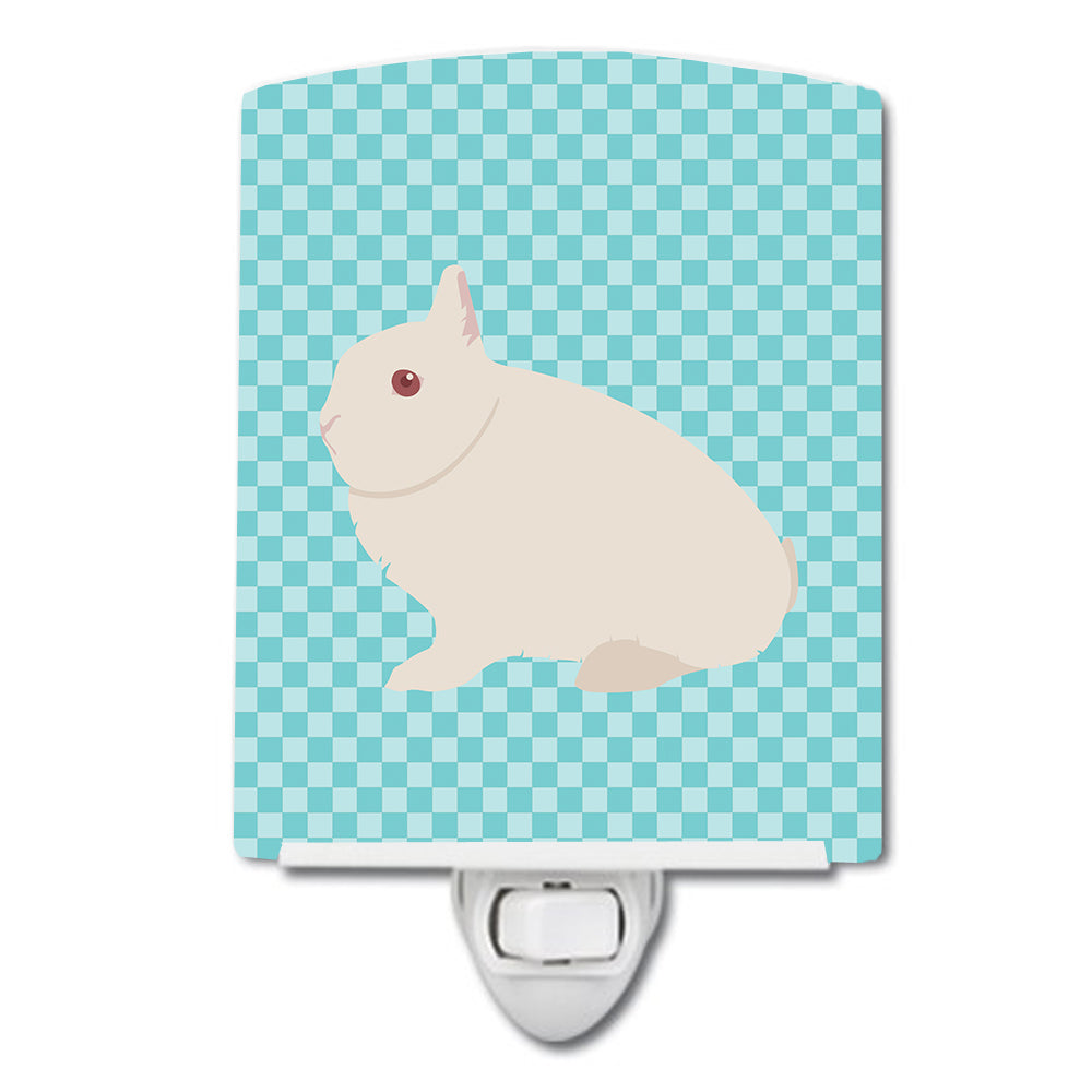 Hermelin Rabbit Blue Check Ceramic Night Light BB8138CNL by Caroline's Treasures