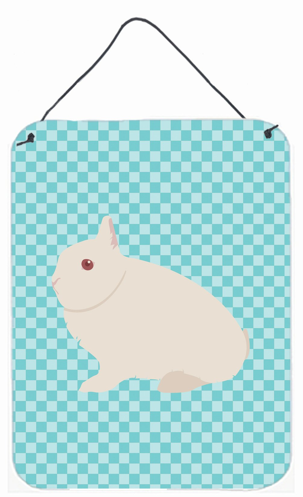 Hermelin Rabbit Blue Check Wall or Door Hanging Prints BB8138DS1216 by Caroline's Treasures