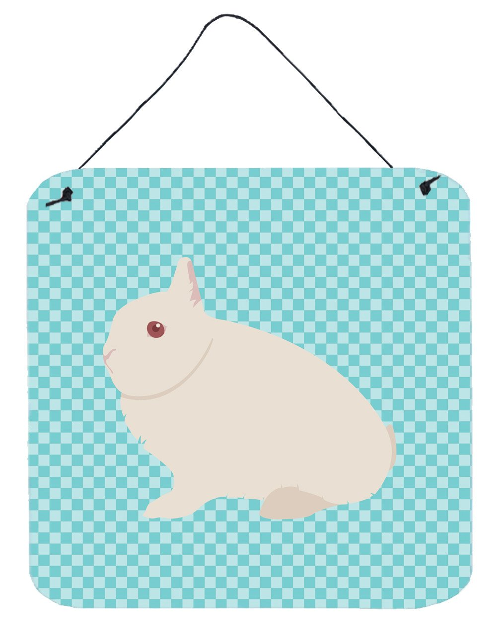 Hermelin Rabbit Blue Check Wall or Door Hanging Prints BB8138DS66 by Caroline's Treasures