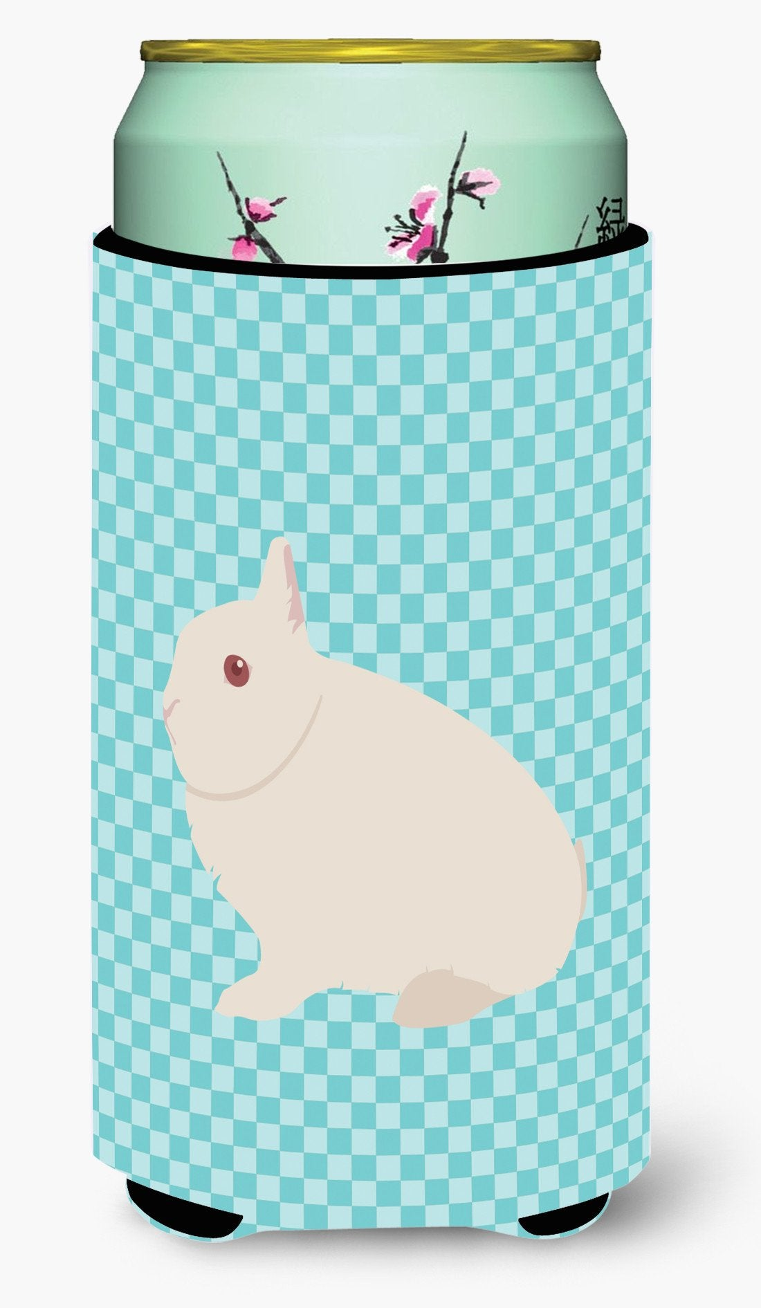 Hermelin Rabbit Blue Check Tall Boy Beverage Insulator Hugger BB8138TBC by Caroline's Treasures