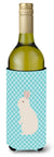 New Zealand White Rabbit Blue Check Wine Bottle Beverge Insulator Hugger BB8139LITERK by Caroline's Treasures