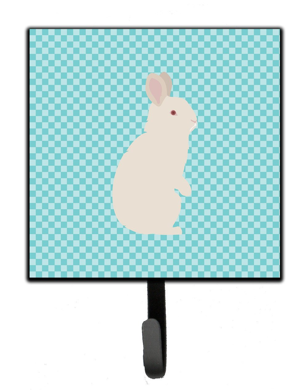 New Zealand White Rabbit Blue Check Leash or Key Holder BB8139SH4 by Caroline's Treasures