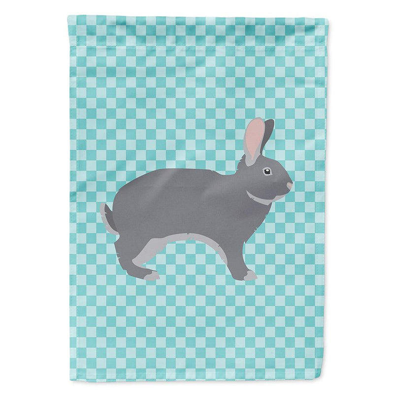 Buy this Giant Chinchilla Rabbit Blue Check Flag Garden Size
