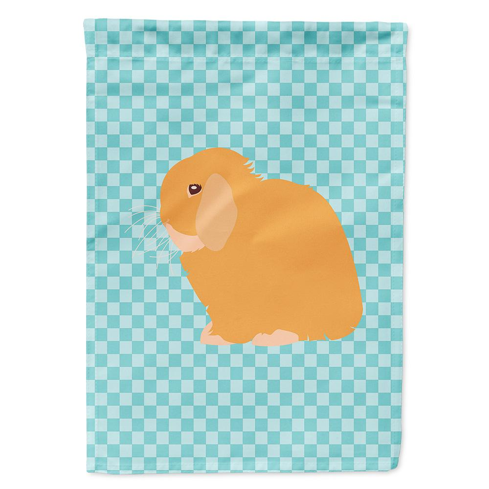 Buy this Holland Lop Rabbit Blue Check Flag Garden Size