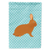 Rex Rabbit Blue Check Flag Garden Size by Caroline's Treasures