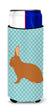 Rex Rabbit Blue Check Michelob Ultra Hugger for slim cans by Caroline's Treasures