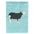 Herwick Sheep Blue Check Flag Garden Size by Caroline's Treasures