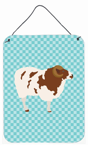 Buy this Jacob Sheep Blue Check Wall or Door Hanging Prints BB8149DS1216