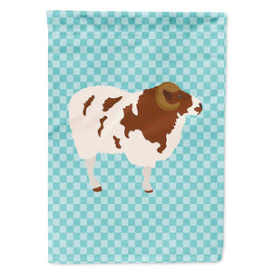 Buy this Jacob Sheep Blue Check Flag Garden Size