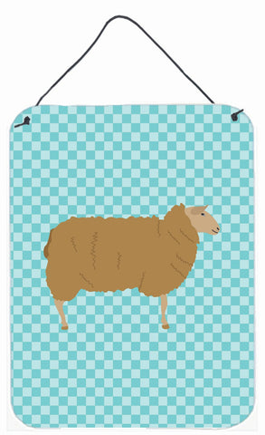 Buy this East Friesian Sheep Blue Check Wall or Door Hanging Prints BB8151DS1216