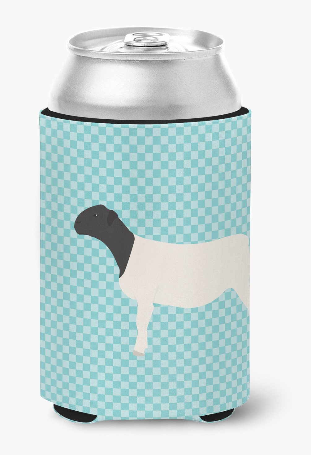Buy this Dorper Sheep Blue Check Can or Bottle Hugger BB8152CC
