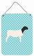 Dorper Sheep Blue Check Wall or Door Hanging Prints BB8152DS1216 by Caroline's Treasures