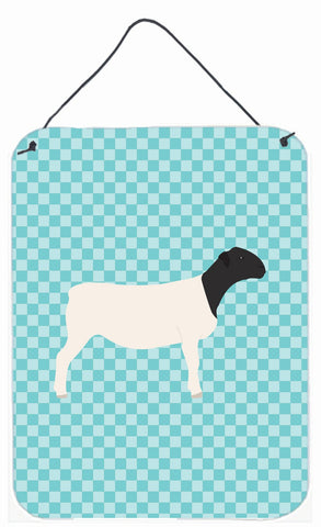 Buy this Dorper Sheep Blue Check Wall or Door Hanging Prints BB8152DS1216