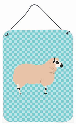 Buy this Kerry Hill Sheep Blue Check Wall or Door Hanging Prints BB8153DS1216