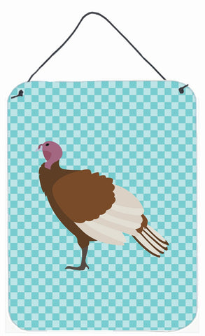 Buy this Bourbon Red Turkey Hen Blue Check Wall or Door Hanging Prints BB8156DS1216