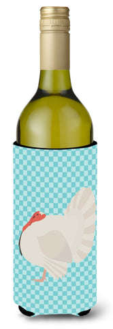 Buy this White Holland Turkey Blue Check Wine Bottle Beverge Insulator Hugger BB8157LITERK