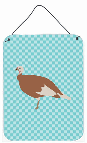 Buy this Jersey Buff Turkey Hen Blue Check Wall or Door Hanging Prints BB8158DS1216