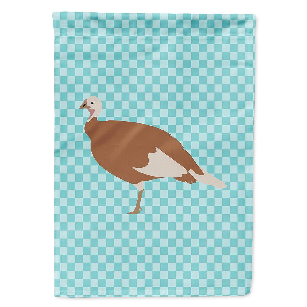 Jersey Buff Turkey Hen Blue Check Flag Garden Size by Caroline's Treasures