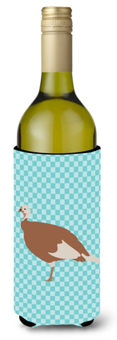 Buy this Jersey Buff Turkey Hen Blue Check Wine Bottle Beverge Insulator Hugger BB8158LITERK