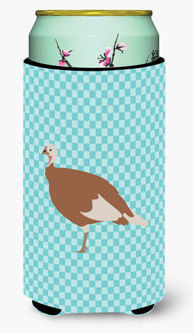 Buy this Jersey Buff Turkey Hen Blue Check Tall Boy Beverage Insulator Hugger BB8158TBC