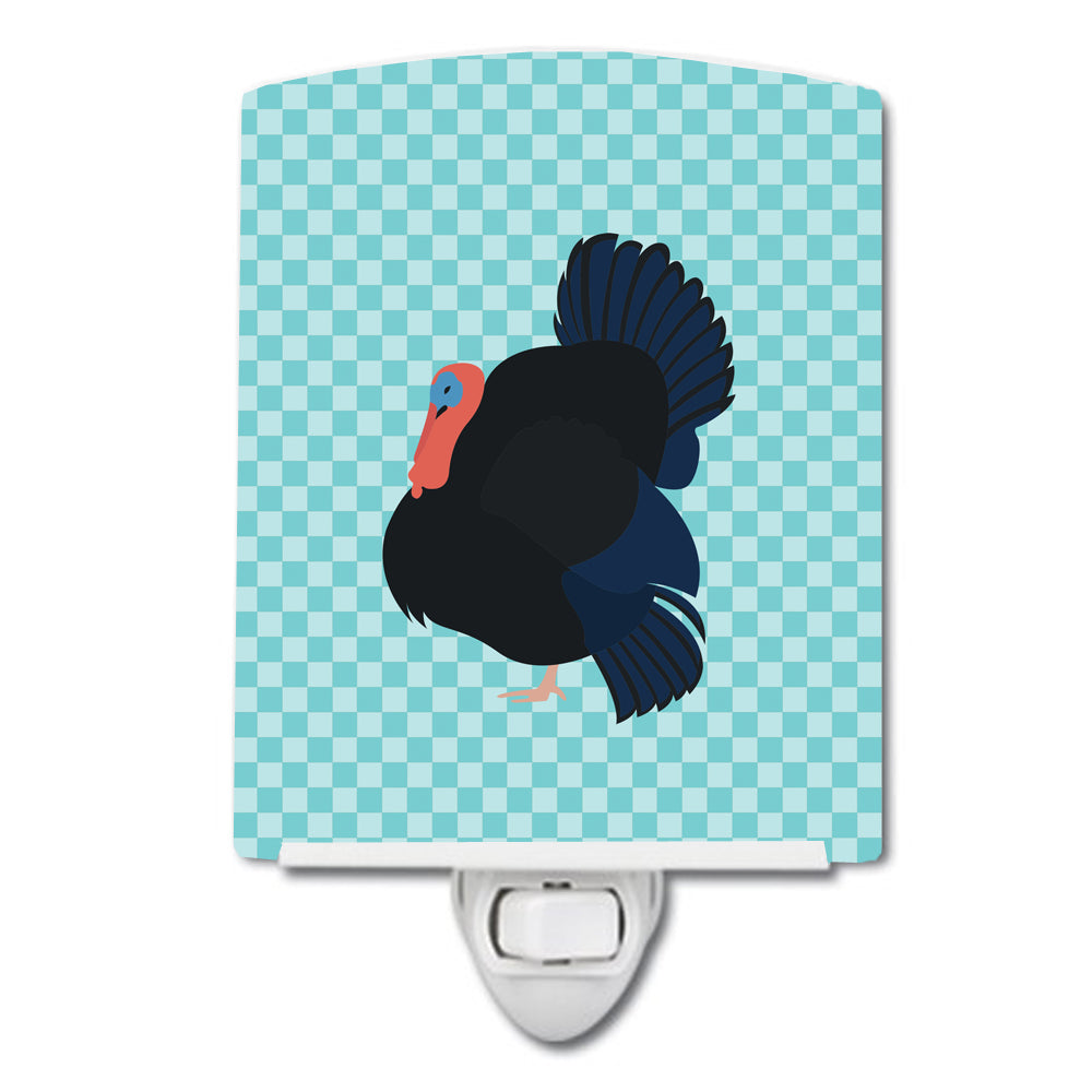 Norfolk Black Turkey Blue Check Ceramic Night Light BB8159CNL by Caroline's Treasures