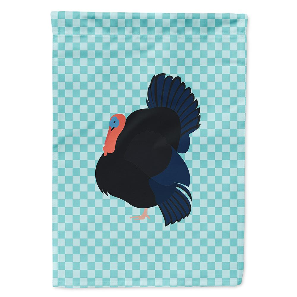 Norfolk Black Turkey Blue Check Flag Garden Size by Caroline's Treasures