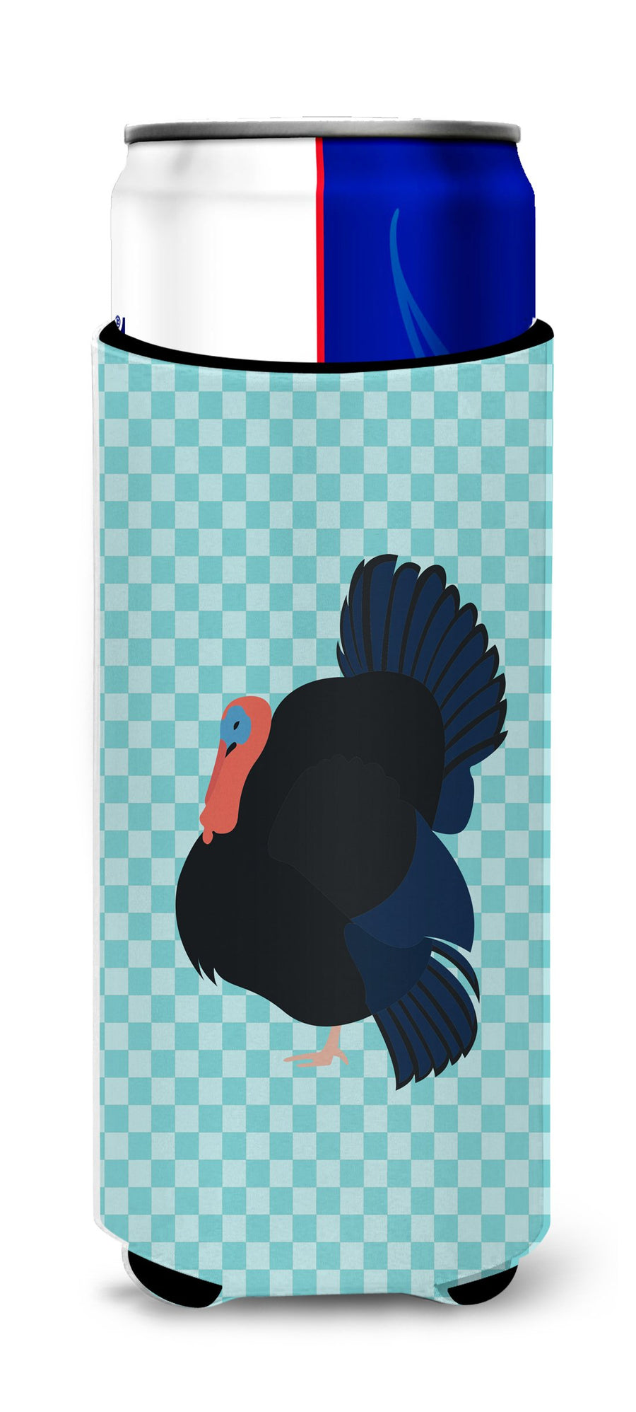 Buy this Norfolk Black Turkey Blue Check Michelob Ultra Hugger for slim cans
