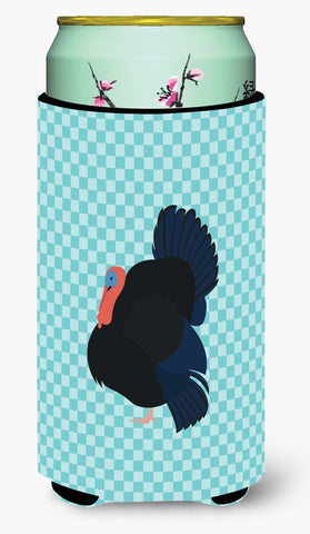 Buy this Norfolk Black Turkey Blue Check Tall Boy Beverage Insulator Hugger BB8159TBC