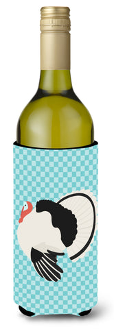 Buy this Royal Palm Turkey Blue Check Wine Bottle Beverge Insulator Hugger BB8162LITERK